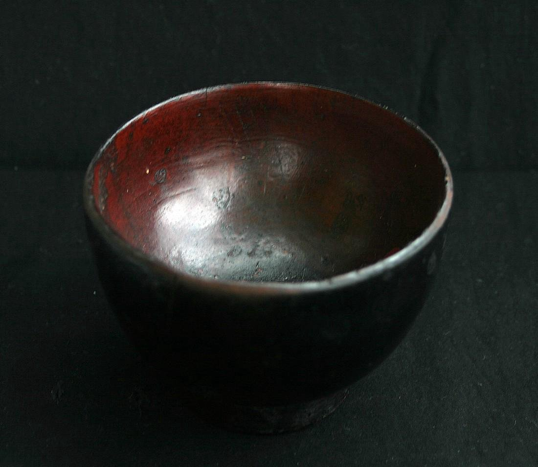 Antique Japanese Meiji Lacquered Worker's Bowl, 19th C - 3
