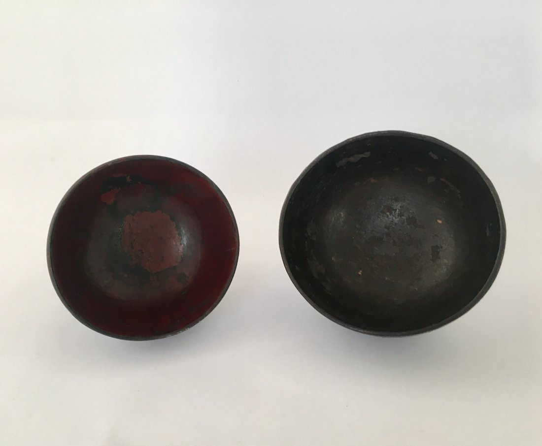 Antique Japanese Meiji Lacquered Worker's Bowl, 19th C - 4