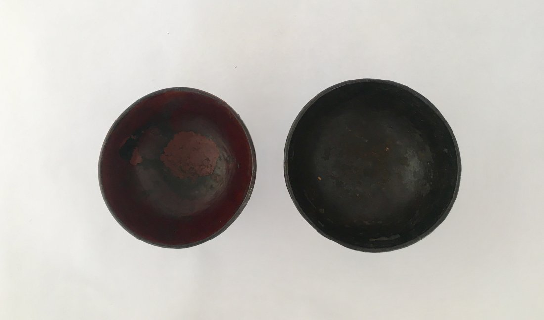 Antique Japanese Meiji Lacquered Worker's Bowl, 19th C - 6