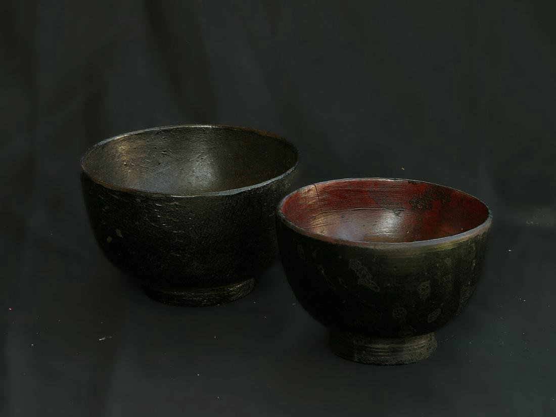Antique Japanese Meiji Lacquered Worker's Bowl, 19th C - 9