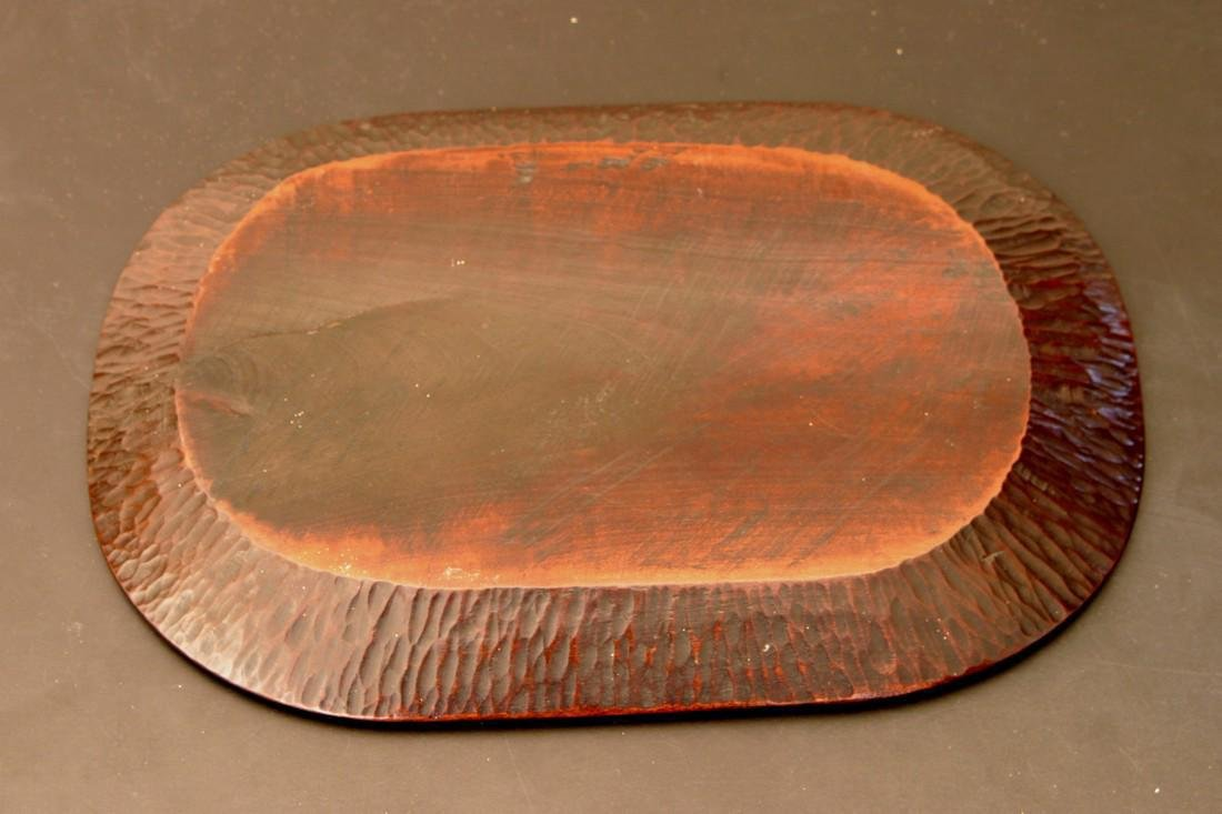 Antique Japanese Edo Period Lacquer Wood Tray, 19th C - 2