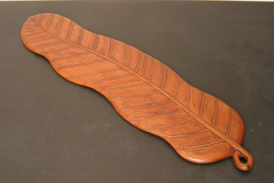 Antique Japanese Meiji Period Wooden Tray, 19th C - 4