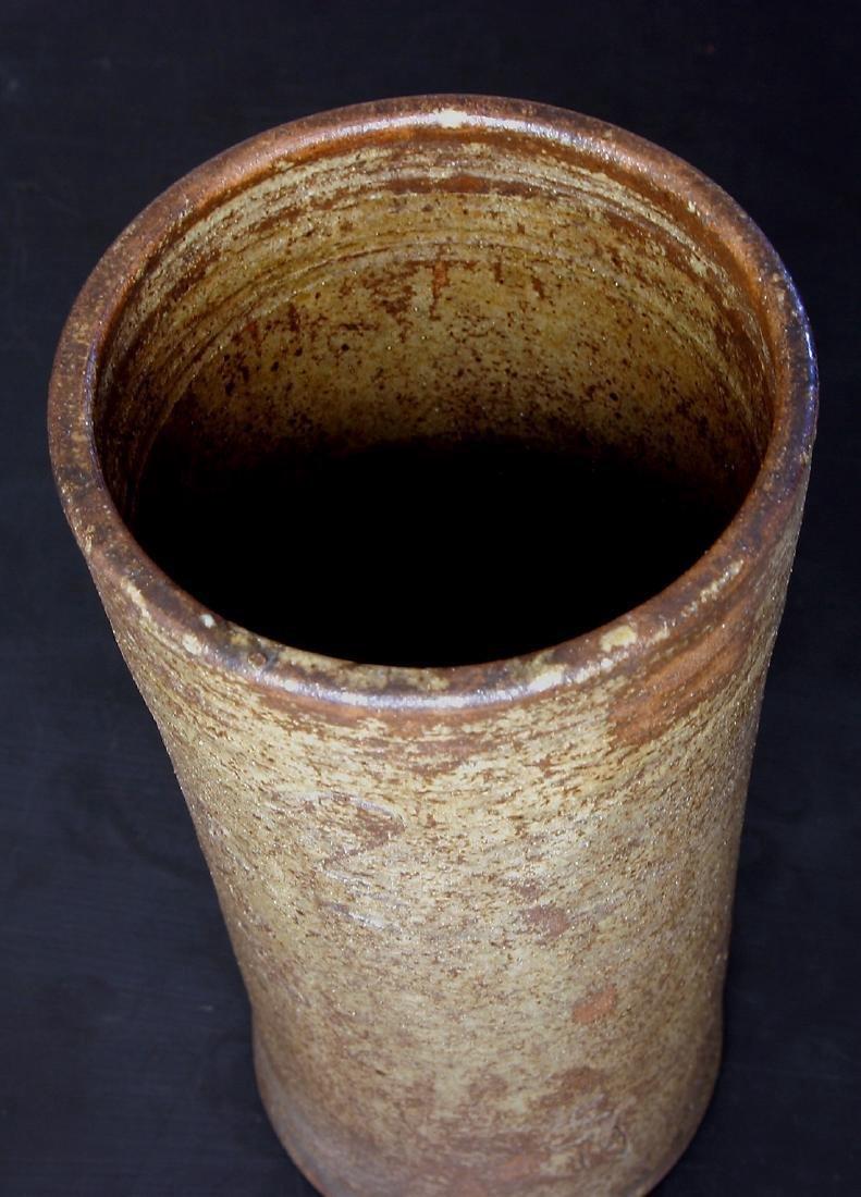 Antique Japanese Meiji Glazed Ceramic Flower Vase - 5