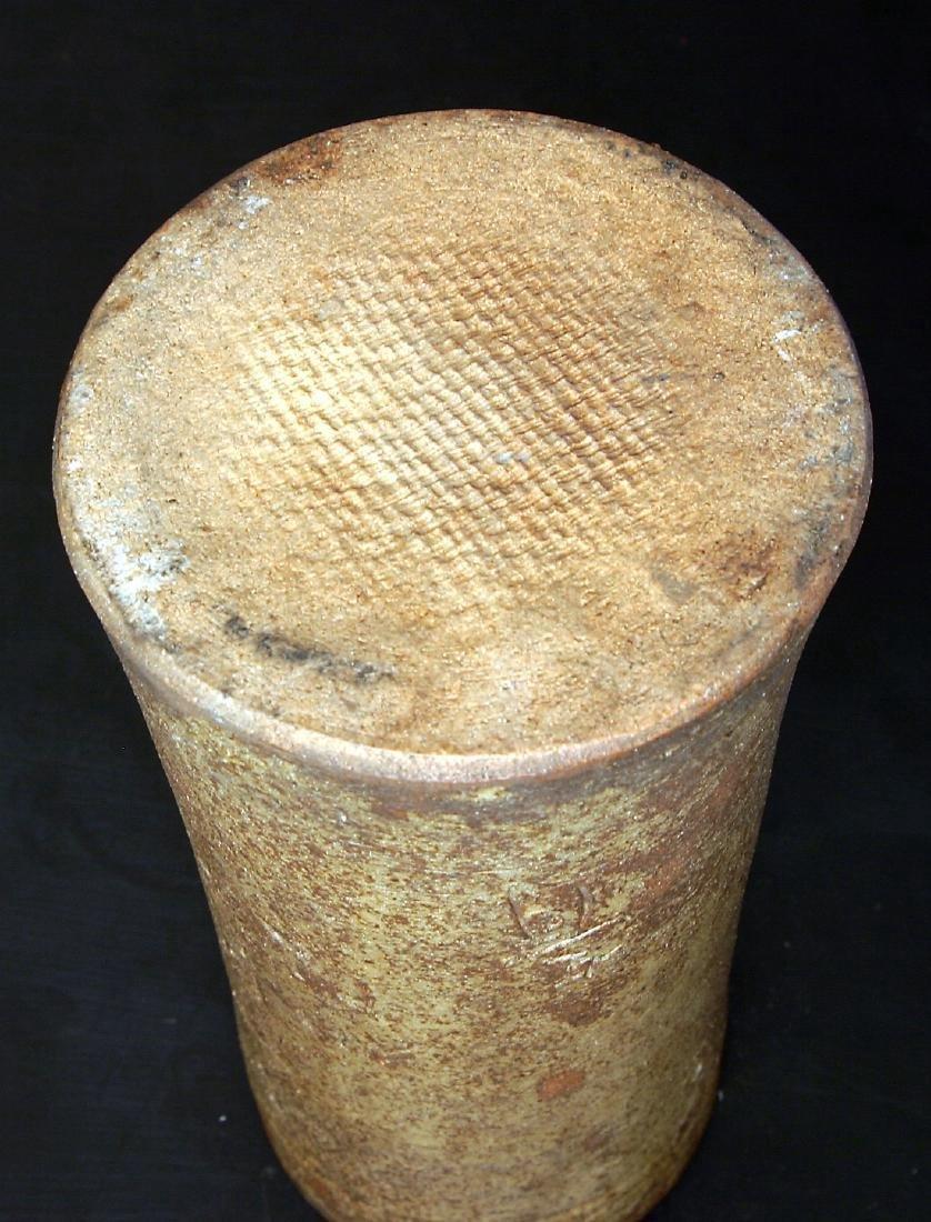 Antique Japanese Meiji Glazed Ceramic Flower Vase - 6