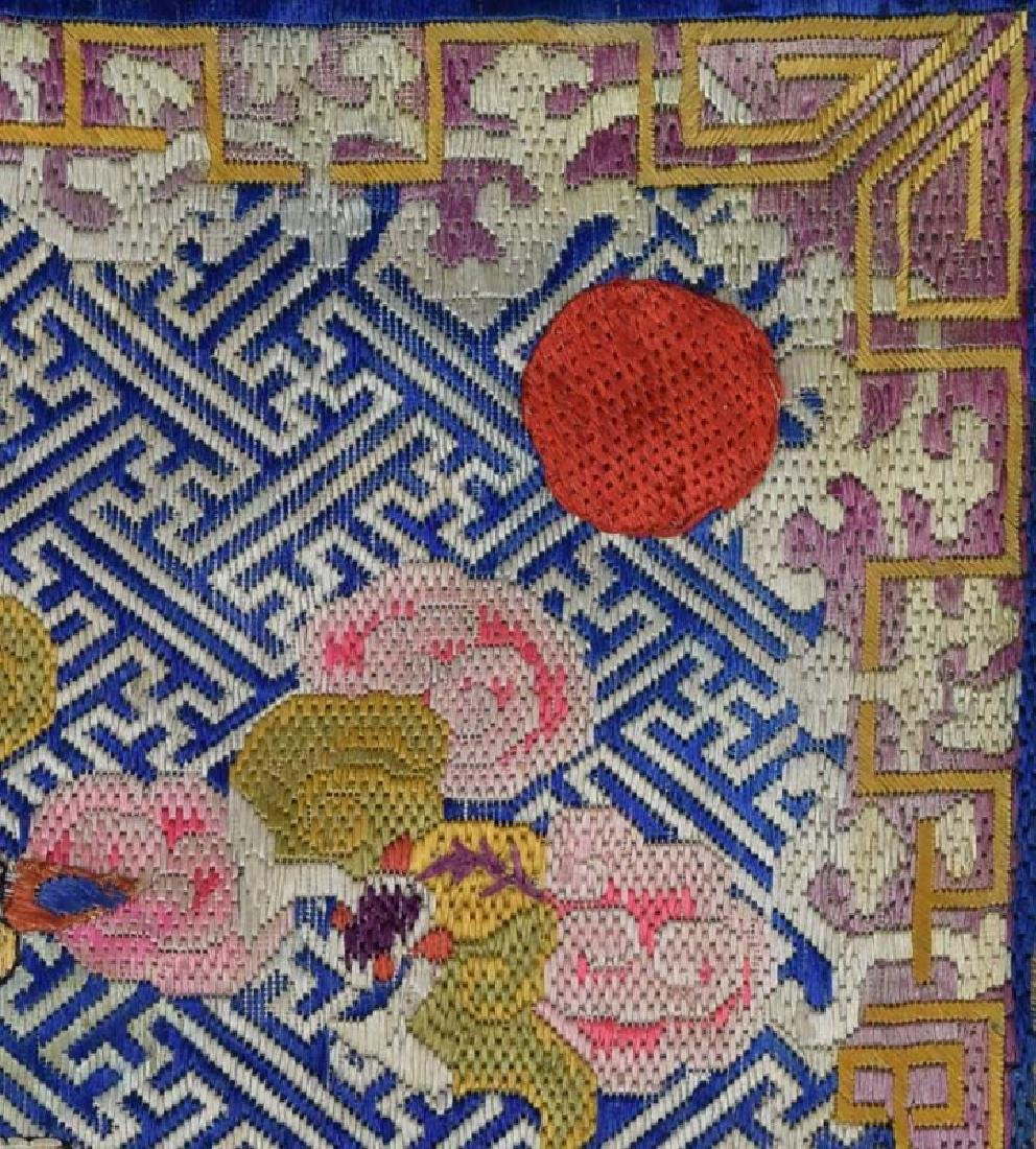 Antique Chinese Textile 2nd Rank Badge Mandarin Square - 3
