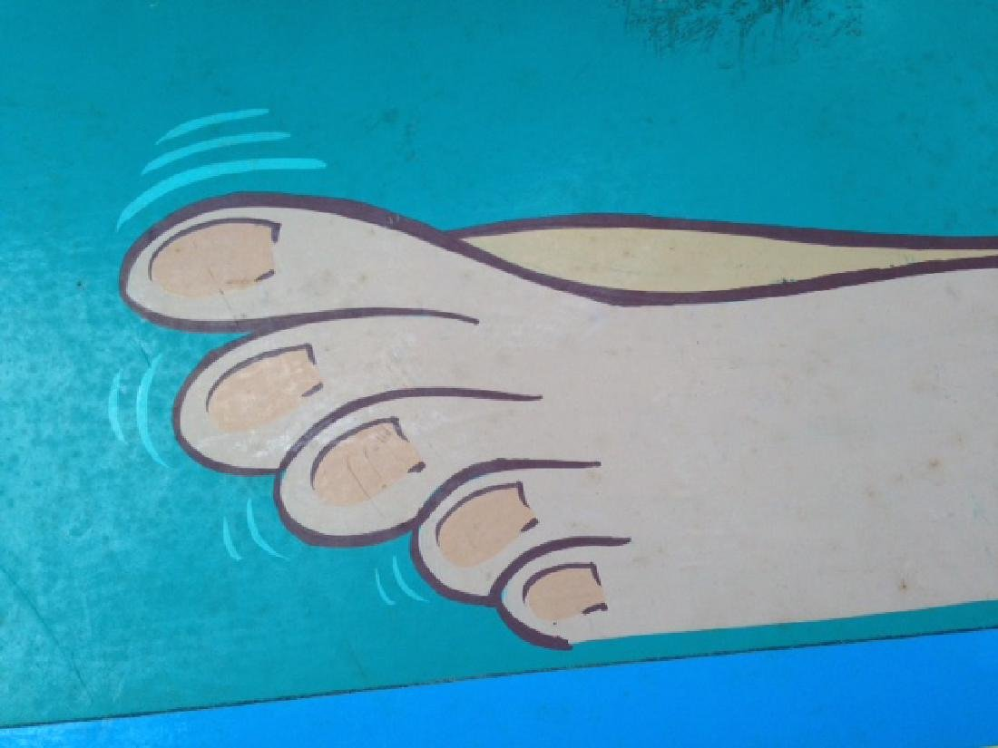 Foot Message 25 Cents Trade Sign 1970 - 2