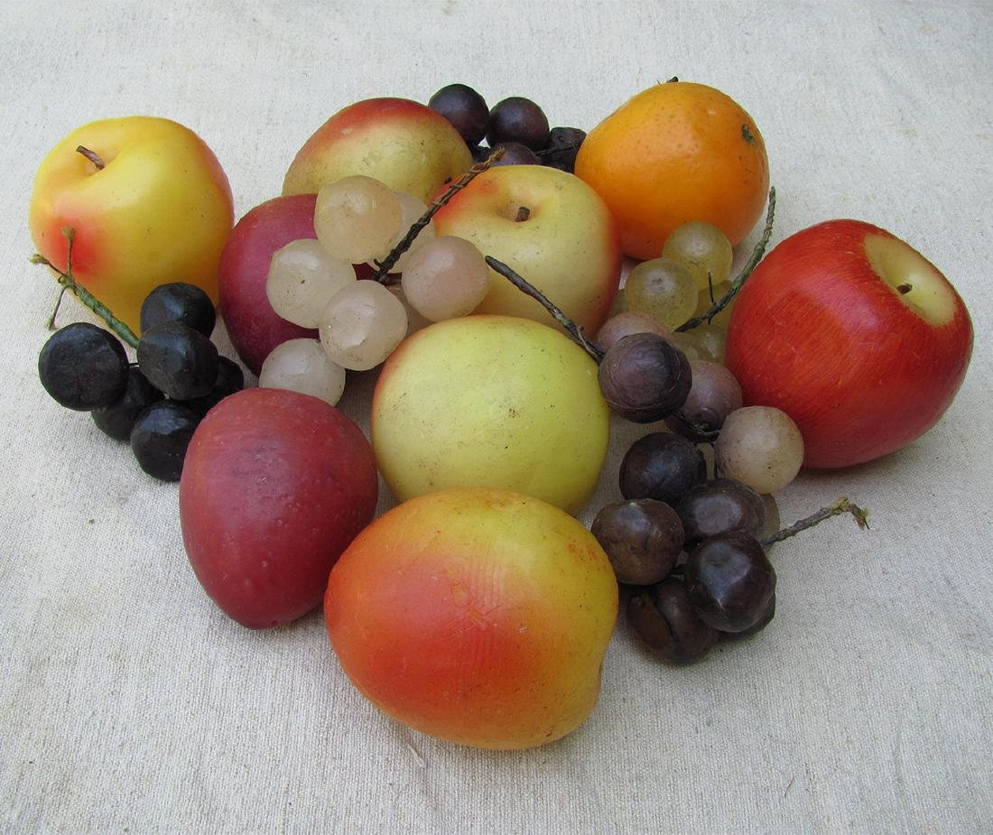 Group of 19thc Victorian Hand Made Wax Fruit - 2
