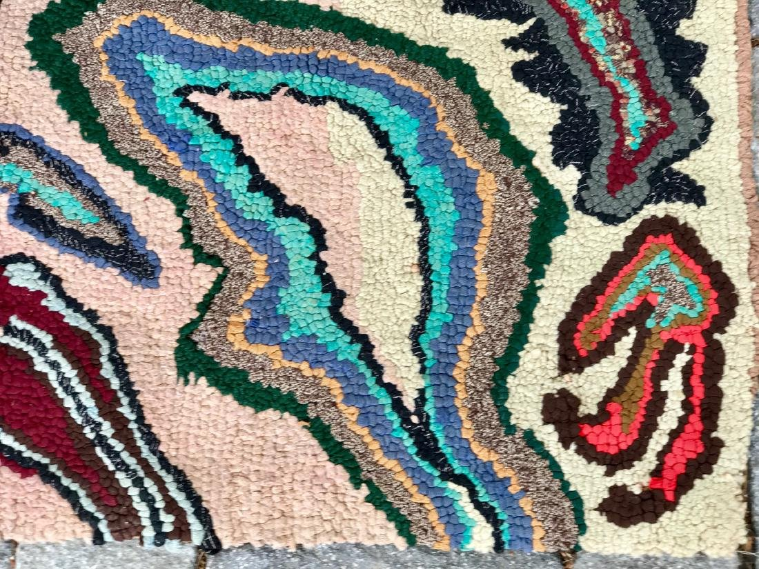 Modernist Abstract Hooked Rug Pennsylvania 1950 - 4