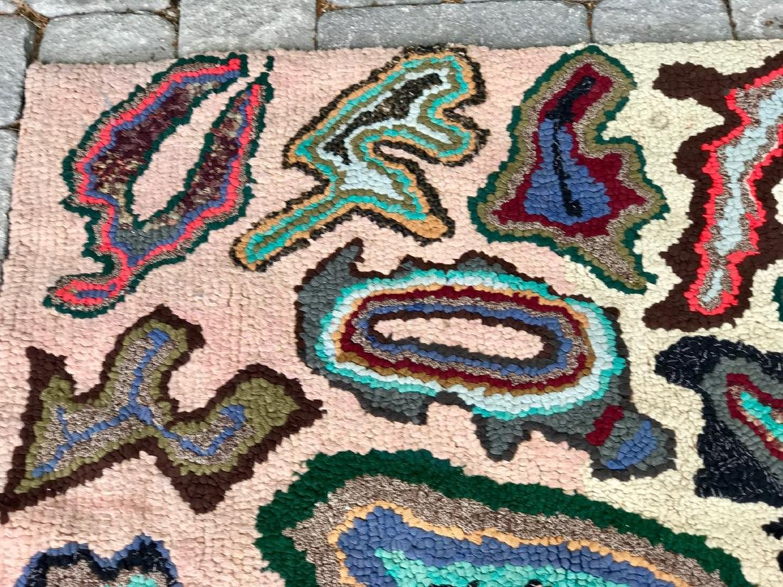Modernist Abstract Hooked Rug Pennsylvania 1950 - 6