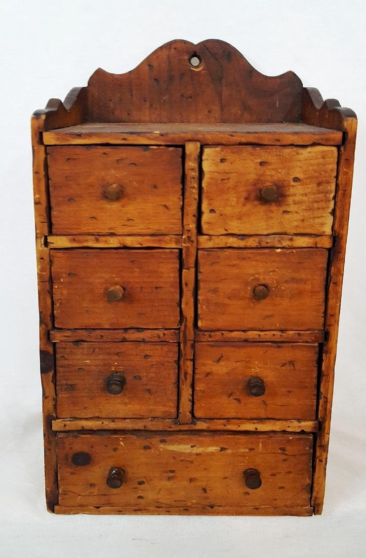 Pine Set of Spice Drawers 1900