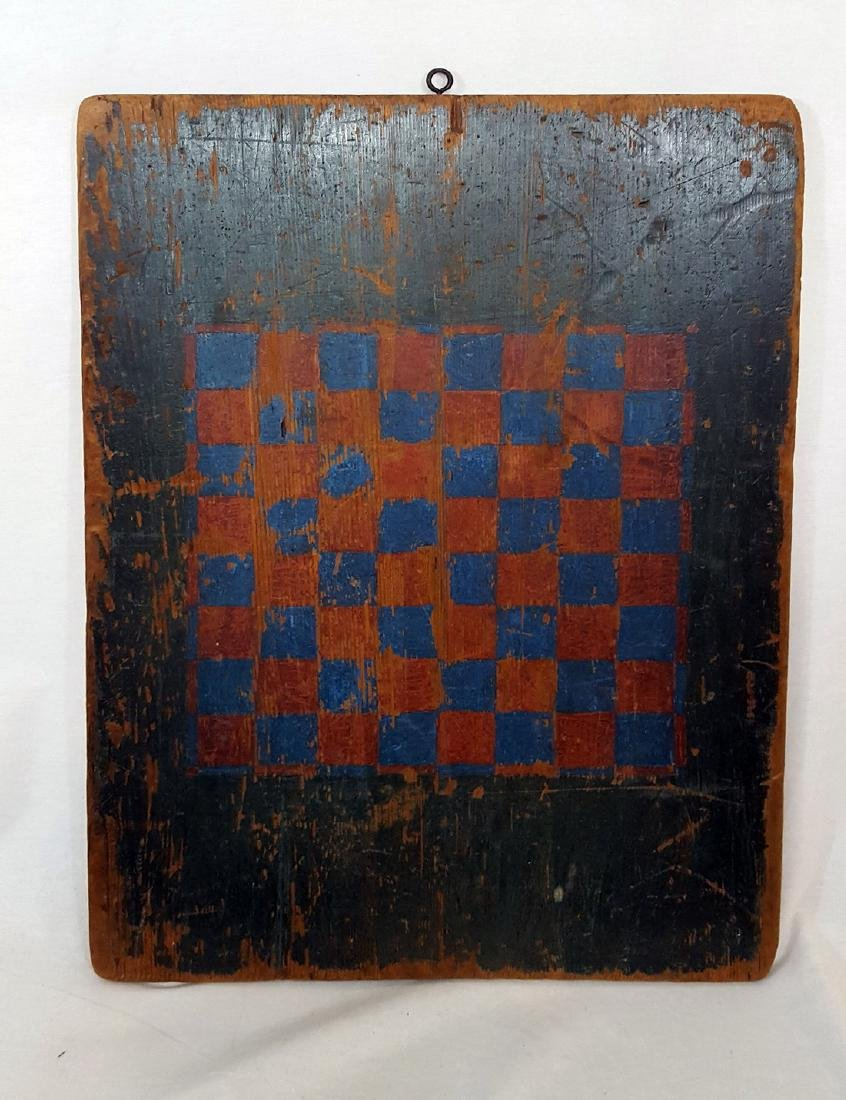 Antique Blue Country Two Sided Game Board
