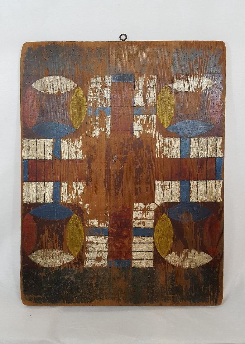Antique Blue Country Two Sided Game Board - 2