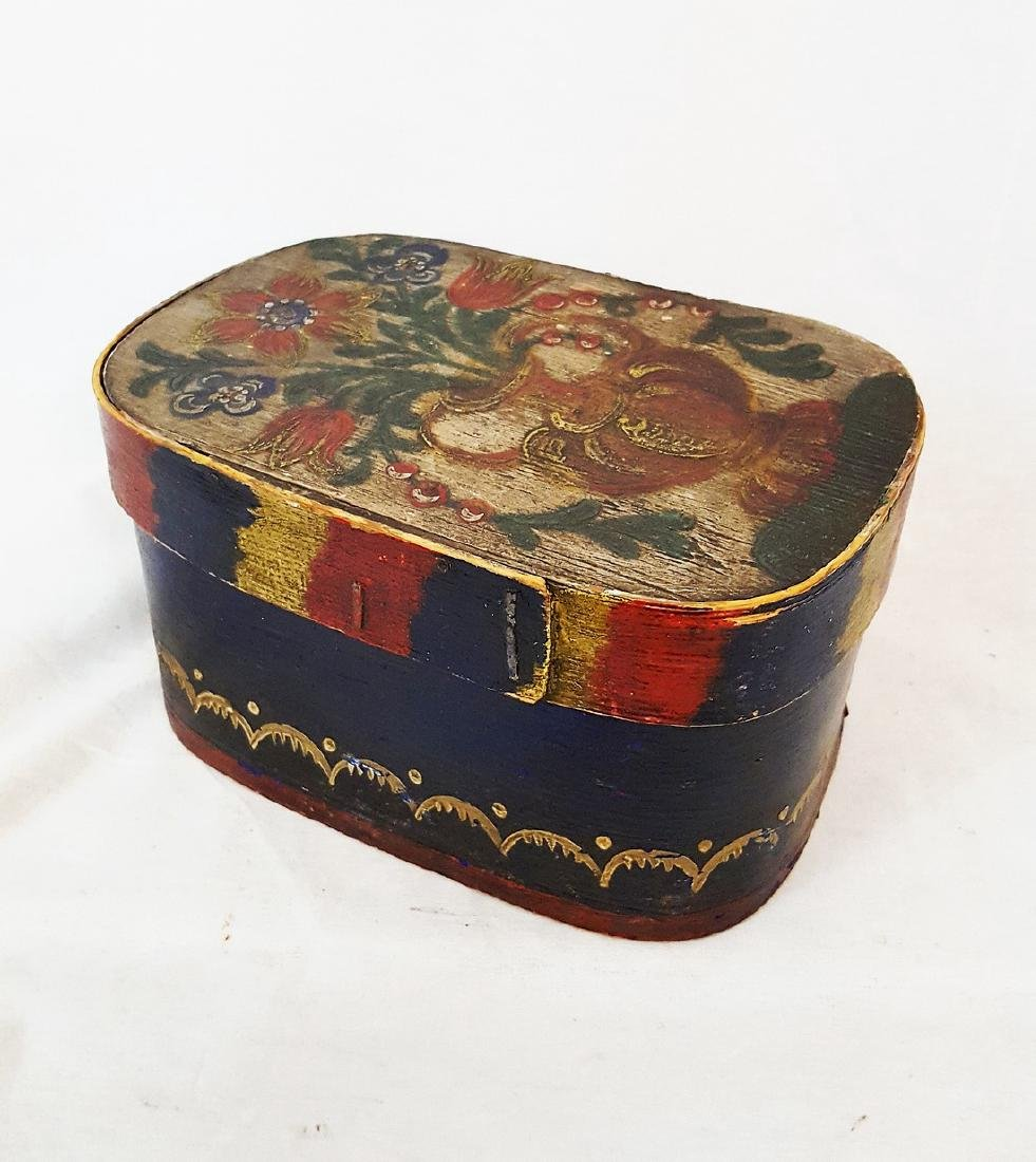 Small Bride's Box With Floral Vase Top 1860