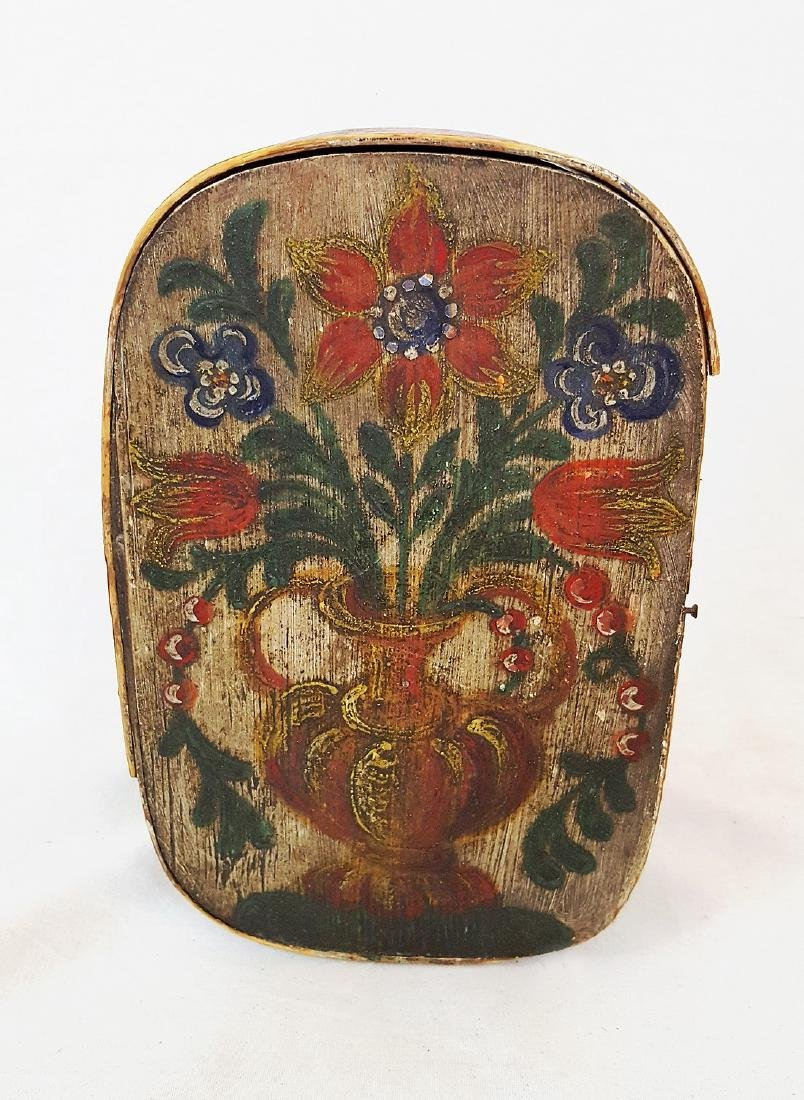 Small Bride's Box With Floral Vase Top 1860 - 2