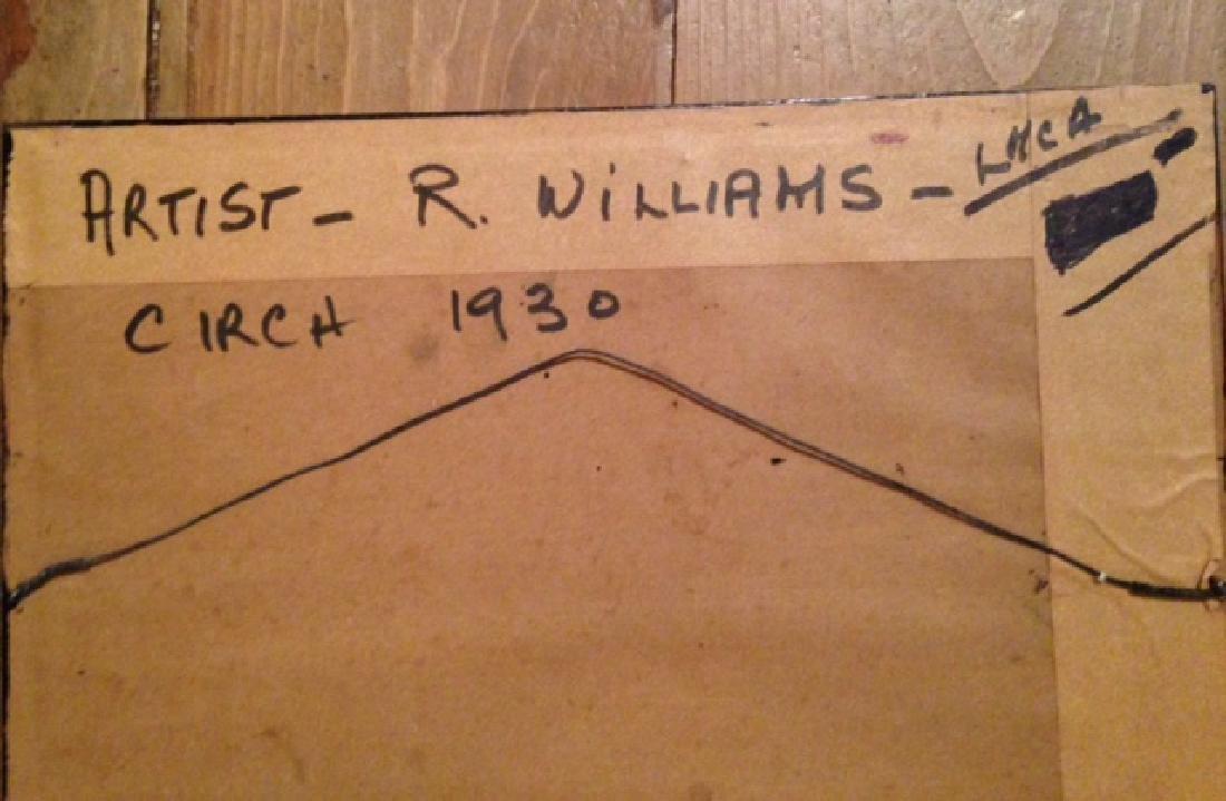 Antique Watercolor 'R. Williams' 1903 - 4