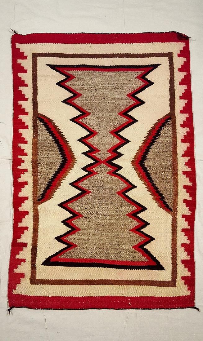Navajo Ganado Woven Rug 1930's