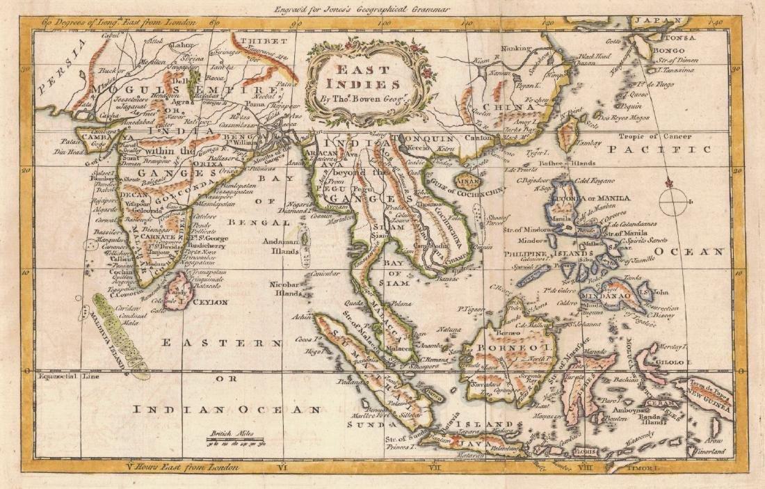 Bowen: Antique Map of East Indies, 1772