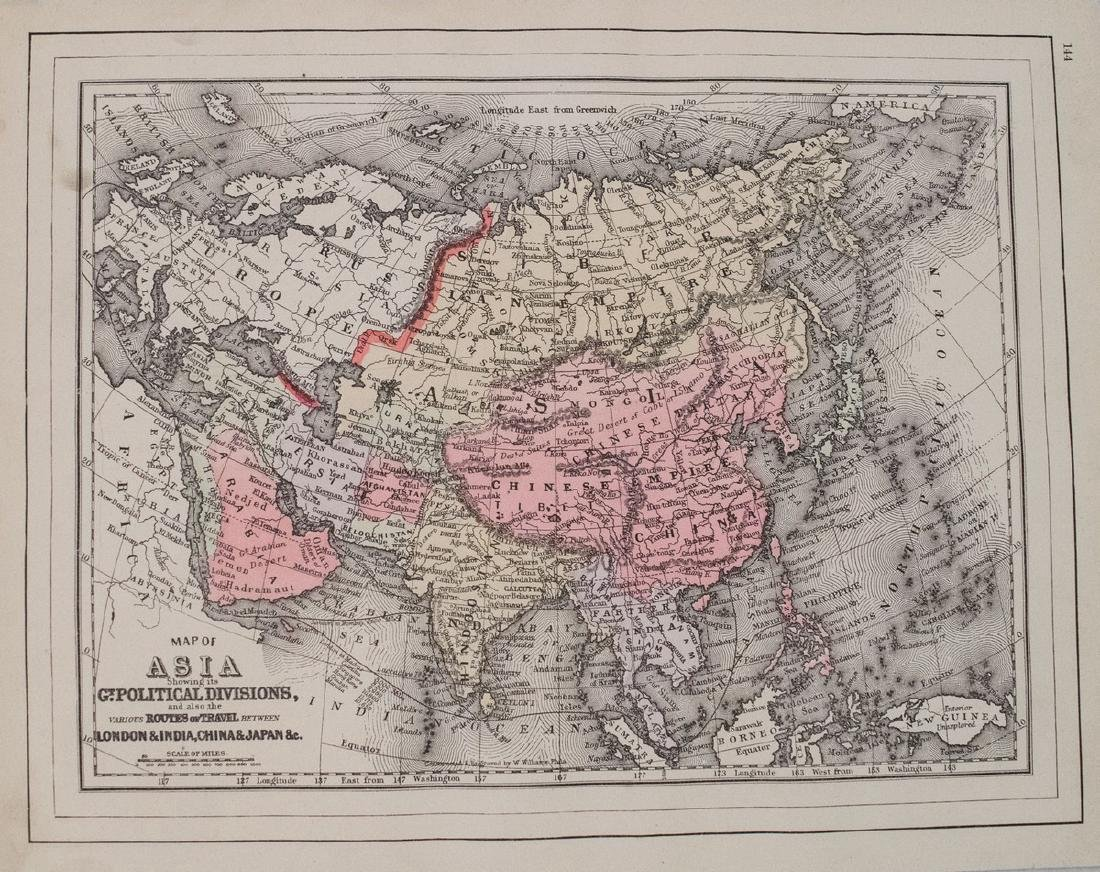 Smith: Antique Map of Asia, 1894