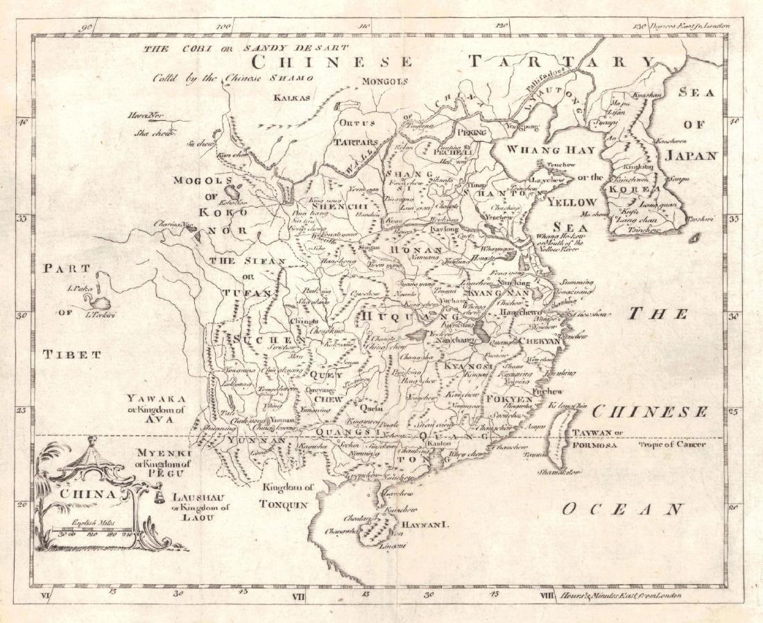 Jefferys: Antique Map of China, 1762