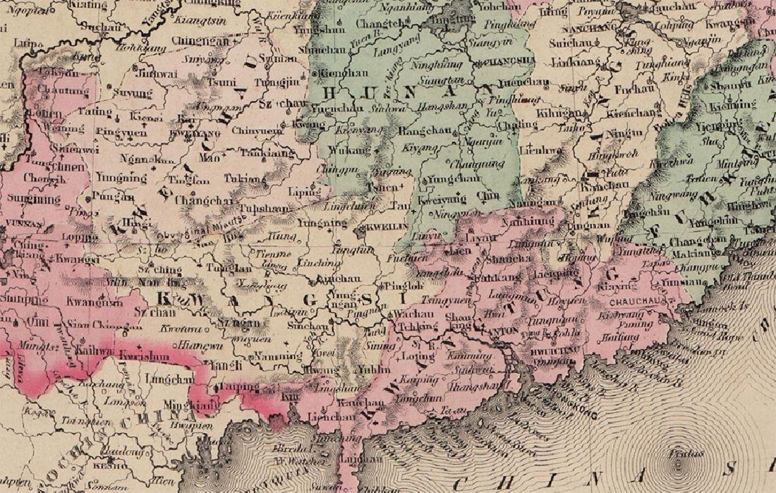 Colton: Antique Map of China, 1855/1869 - 3