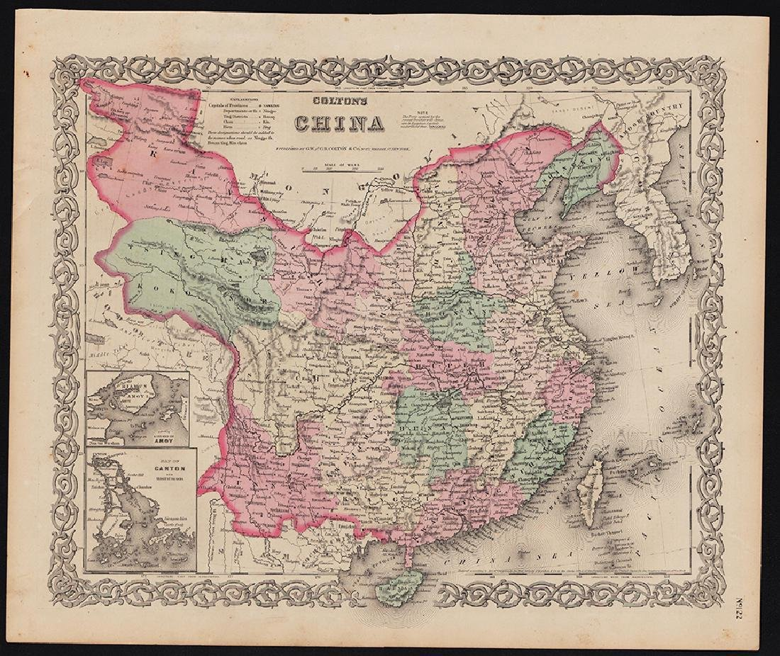 Colton: Antique Map of China, 1855/1869 - 4