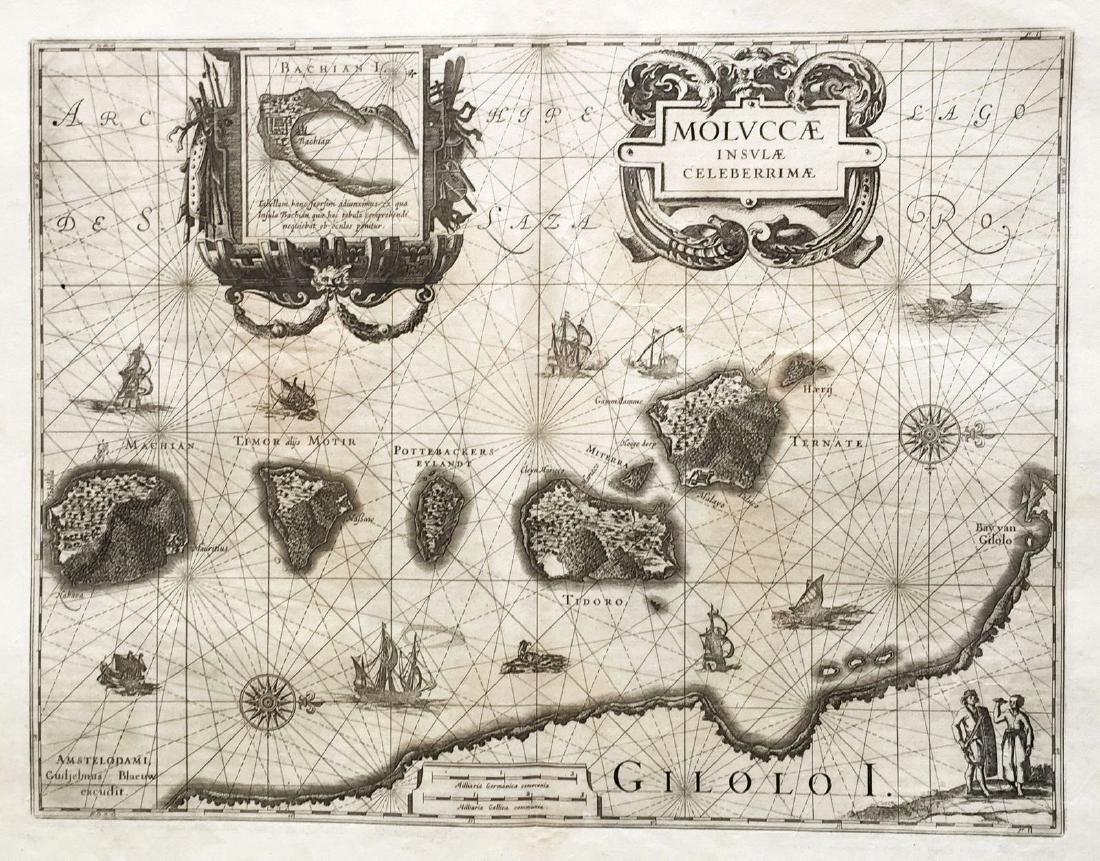 Blaeu: Antique Map of the Moluccan Spice Islands, 1630