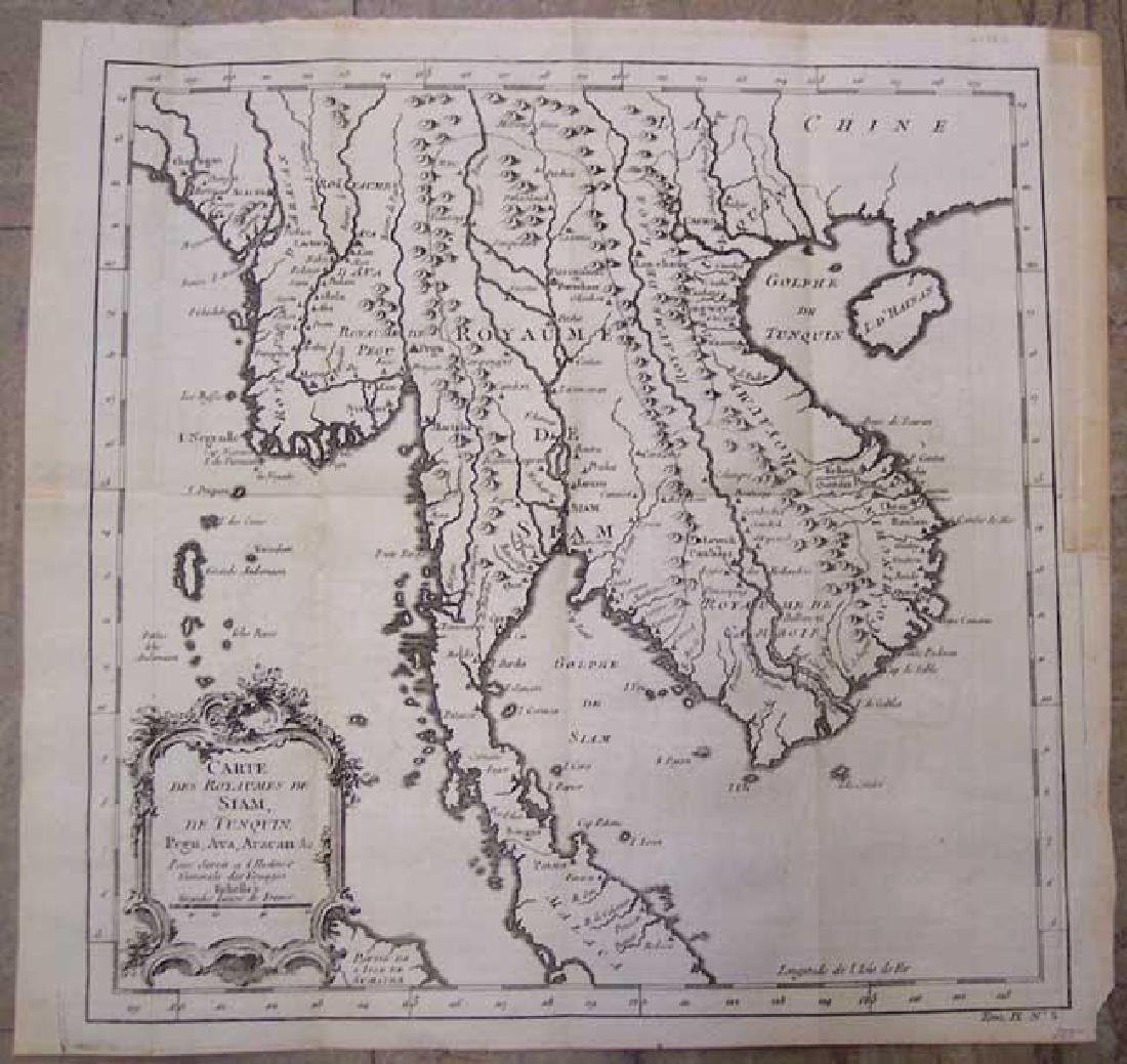 Bellin: Antique Map of Southeast Asia, 1750