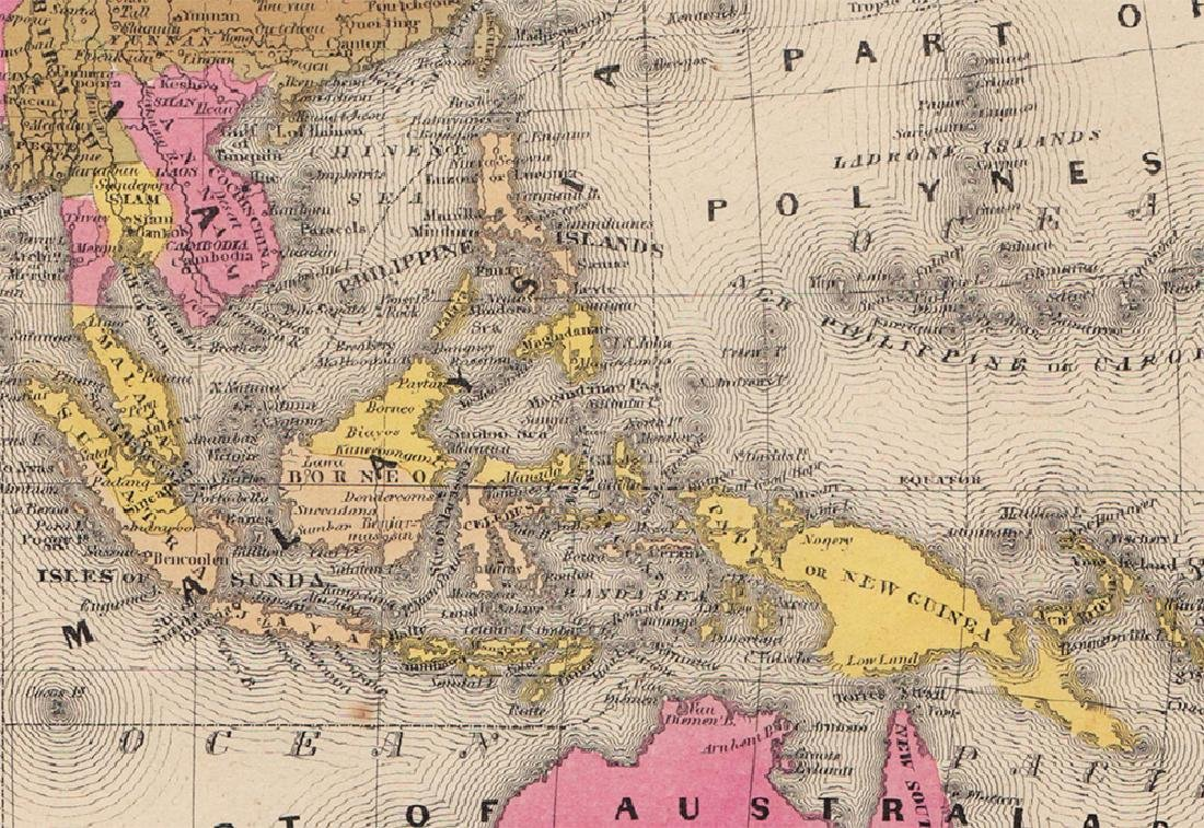 Mitchell: Rare Antique Map of Asia, 1848 - 3