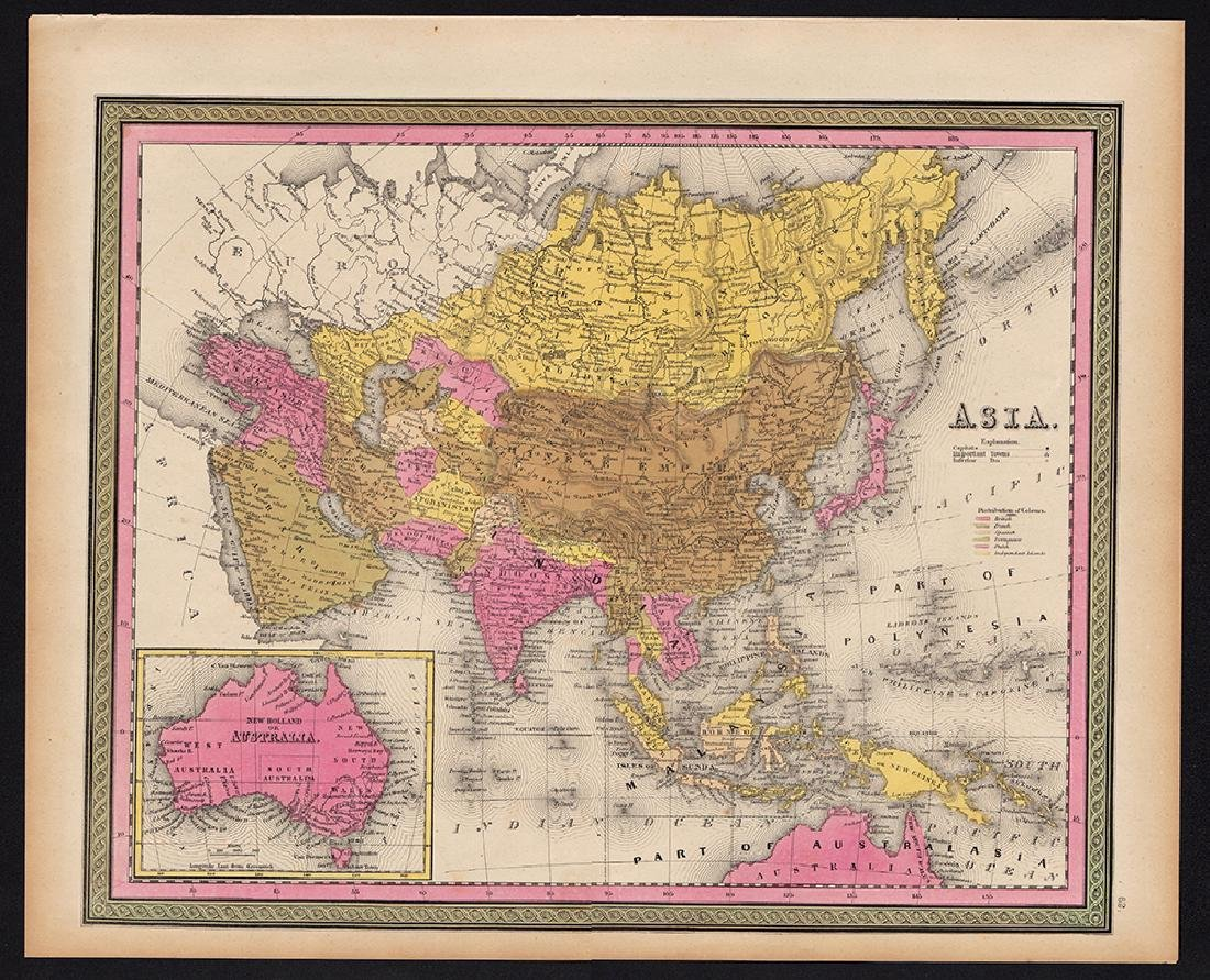 Mitchell: Rare Antique Map of Asia, 1848 - 4
