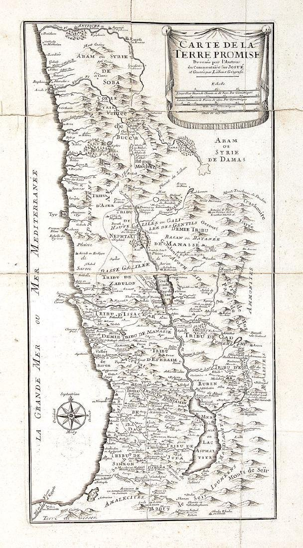Liebaux: Antique Holy Land Tribal Map, 1767