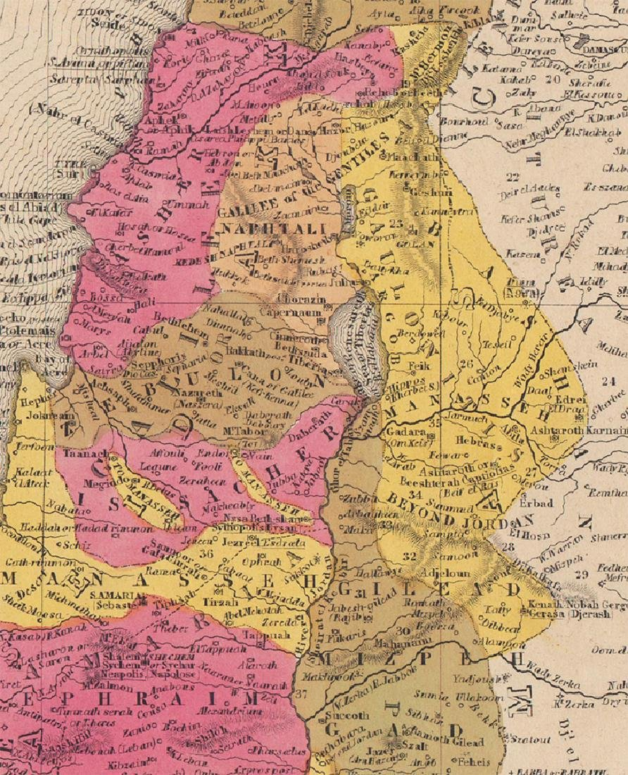 Mitchell: Antique Map of Palestine, 1848 - 2