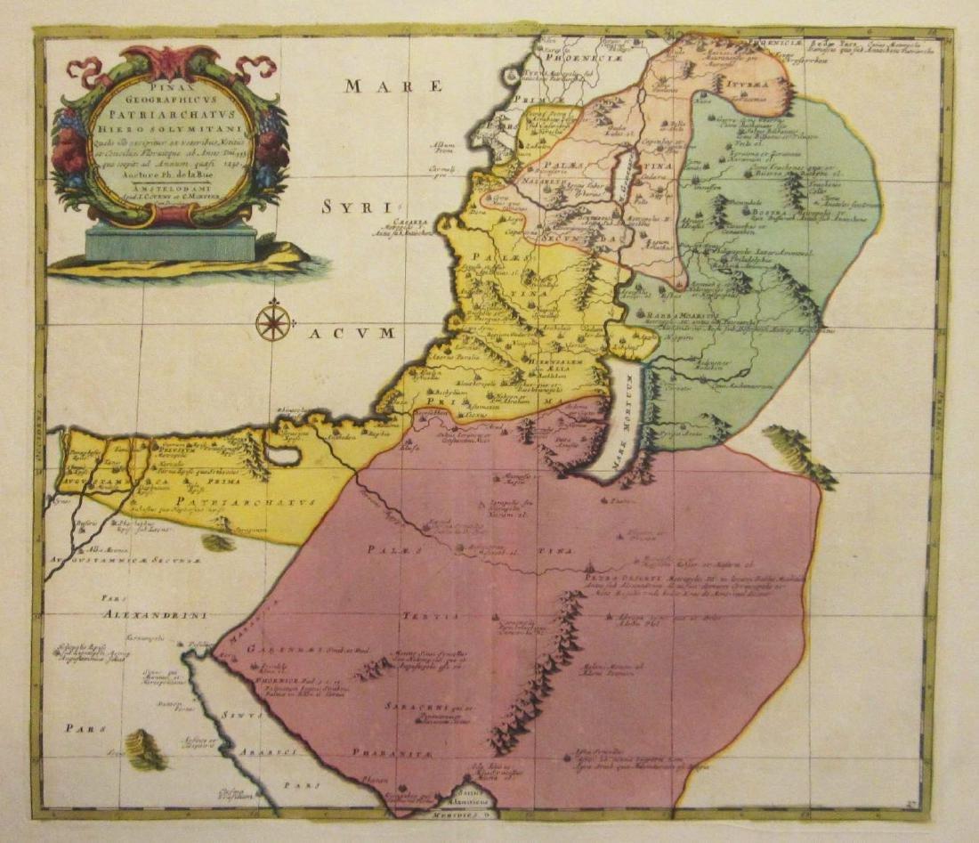 de la Rue: Antique Map of Jerusalem Patriarchate, 1730