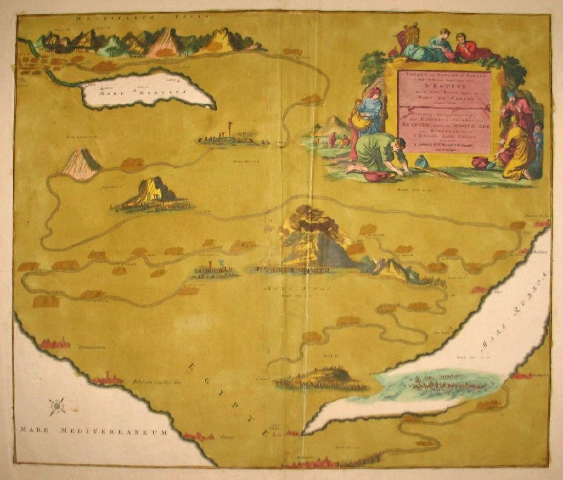 Antique Map of the Exodus Route