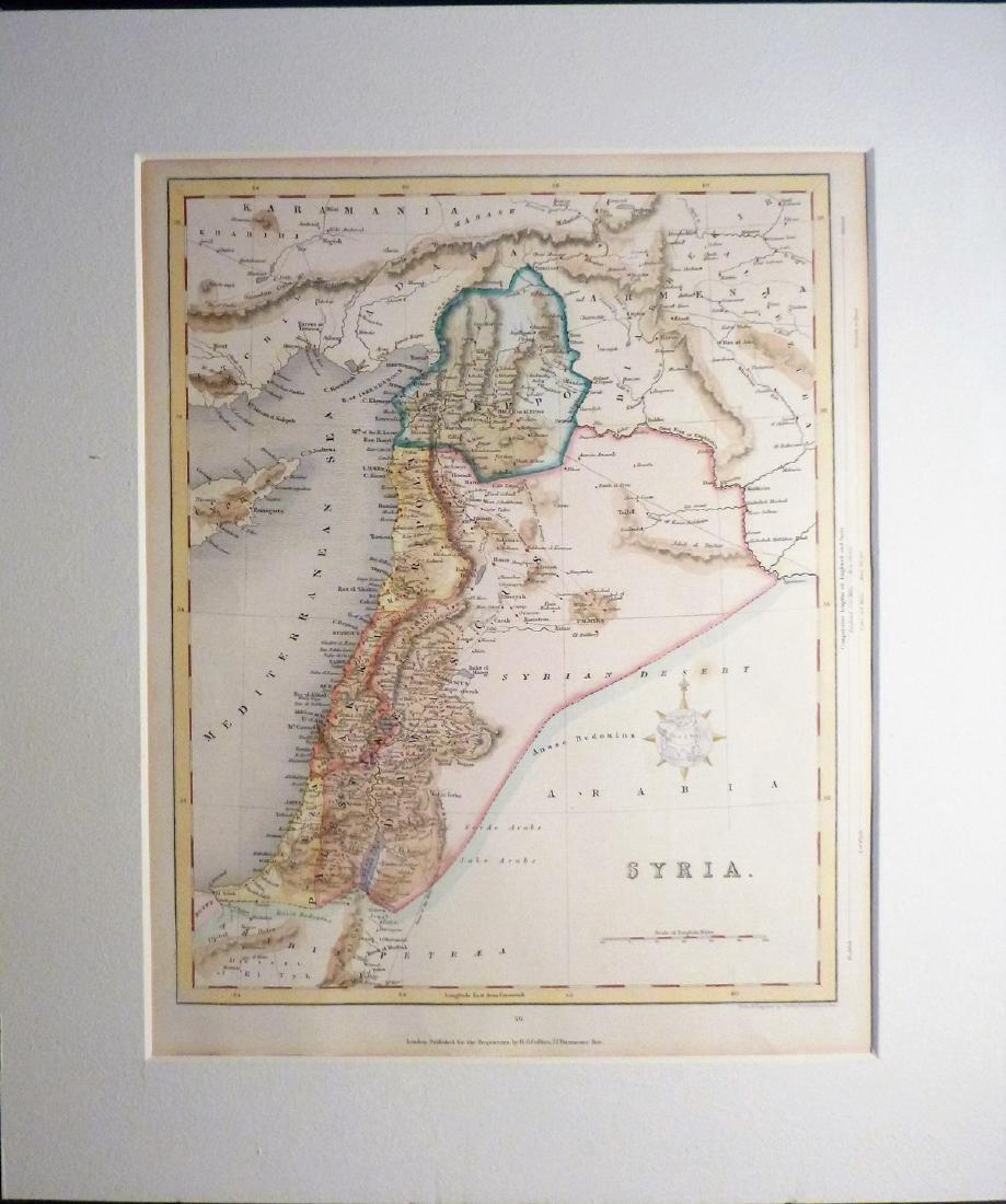 Joshua Archer: Antique Map of Syria - 2