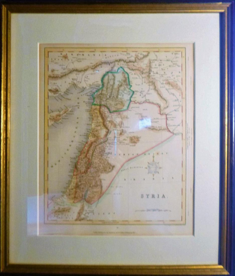 Joshua Archer: Antique Map of Syria - 3