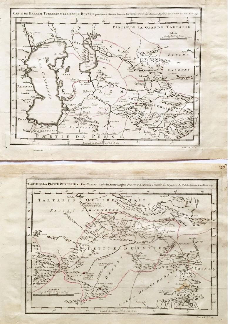 Bellin: Antique Maps of Central Asia / Silk Road, 1749