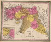 Mitchell: Antique Map of Turkey in Asia, 1848