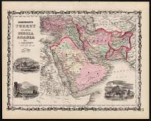 Johnson: Antique Map of Turkey in Asia, 1861