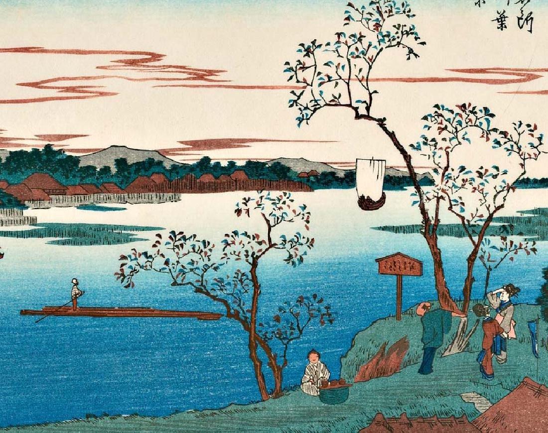 Ando Hiroshige 4 Japanese Woodblock Prints - 5