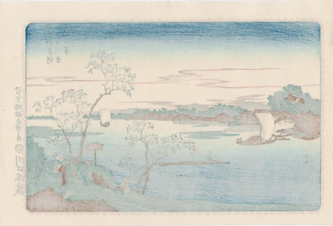 Ando Hiroshige 4 Japanese Woodblock Prints - 6