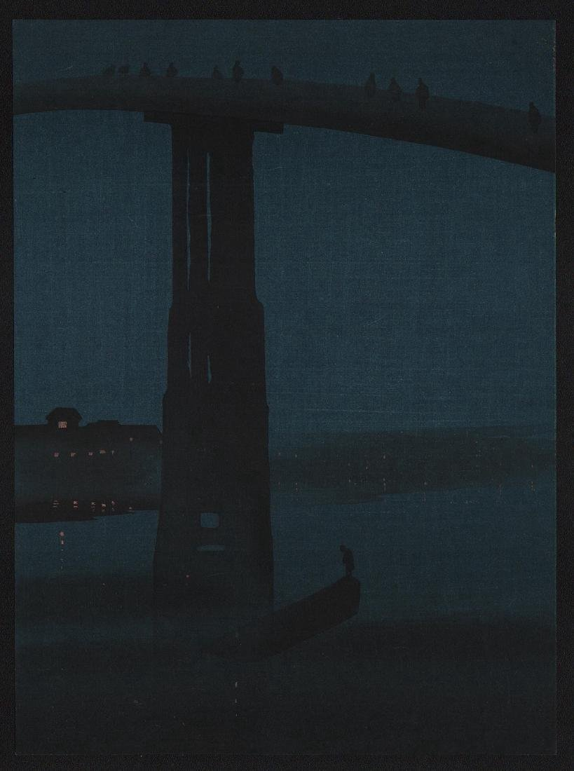 Eijiro Kobayashi Night Japanese Woodblock Print
