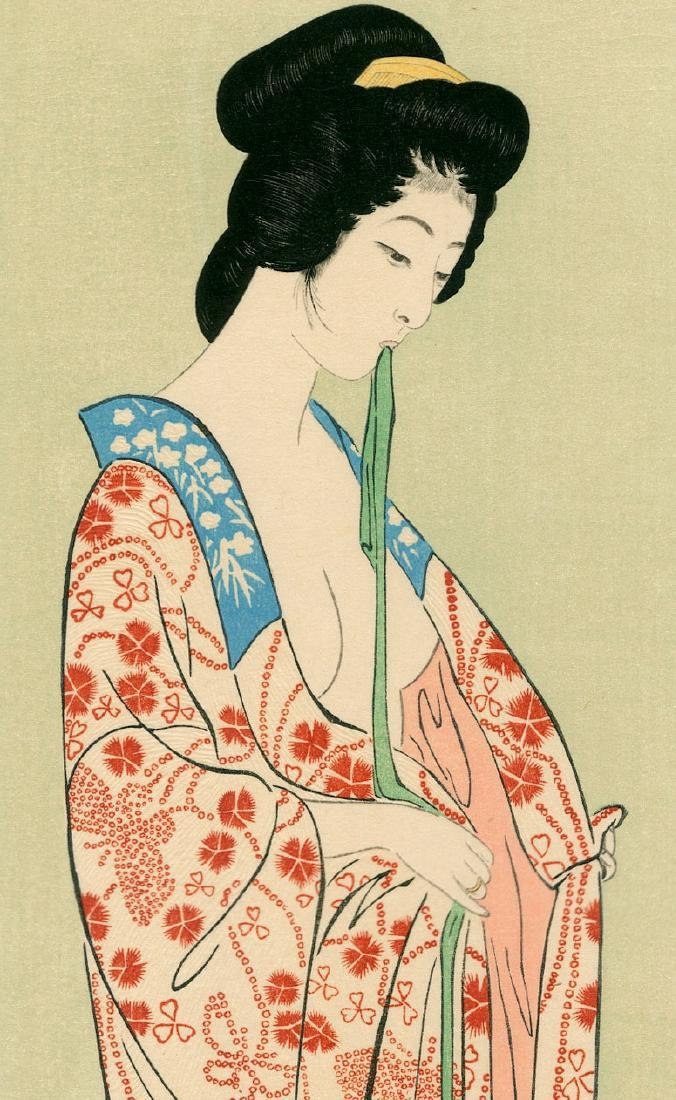 Goyo Hashiguchi Beauty Japanese Woodblock Print - 7