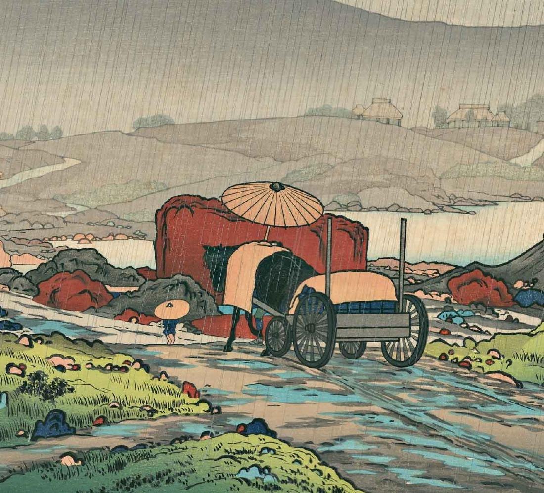 Goyo Hashiguchi Rain Japanese Woodblock Print - 2