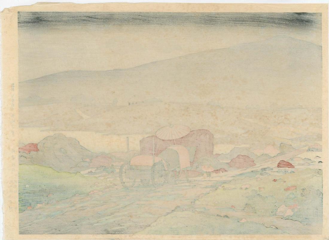 Goyo Hashiguchi Rain Japanese Woodblock Print - 3