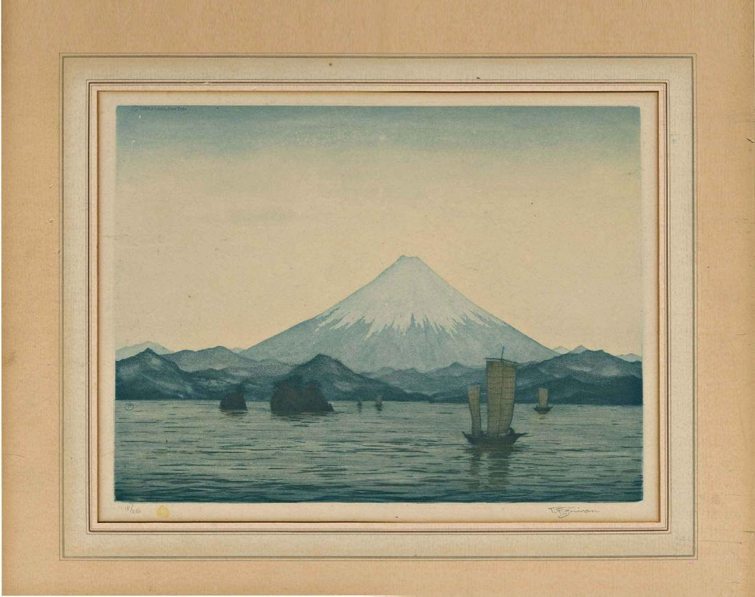 T. F. Simon Mount Fuji Etching