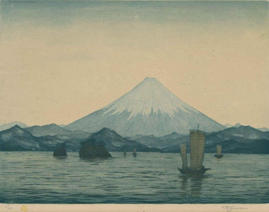 T. F. Simon Mount Fuji Etching - 2
