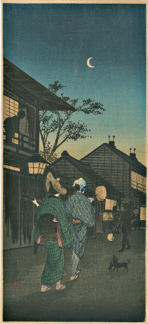 Takahashi Shotei Evening Japanese Woodblock Print