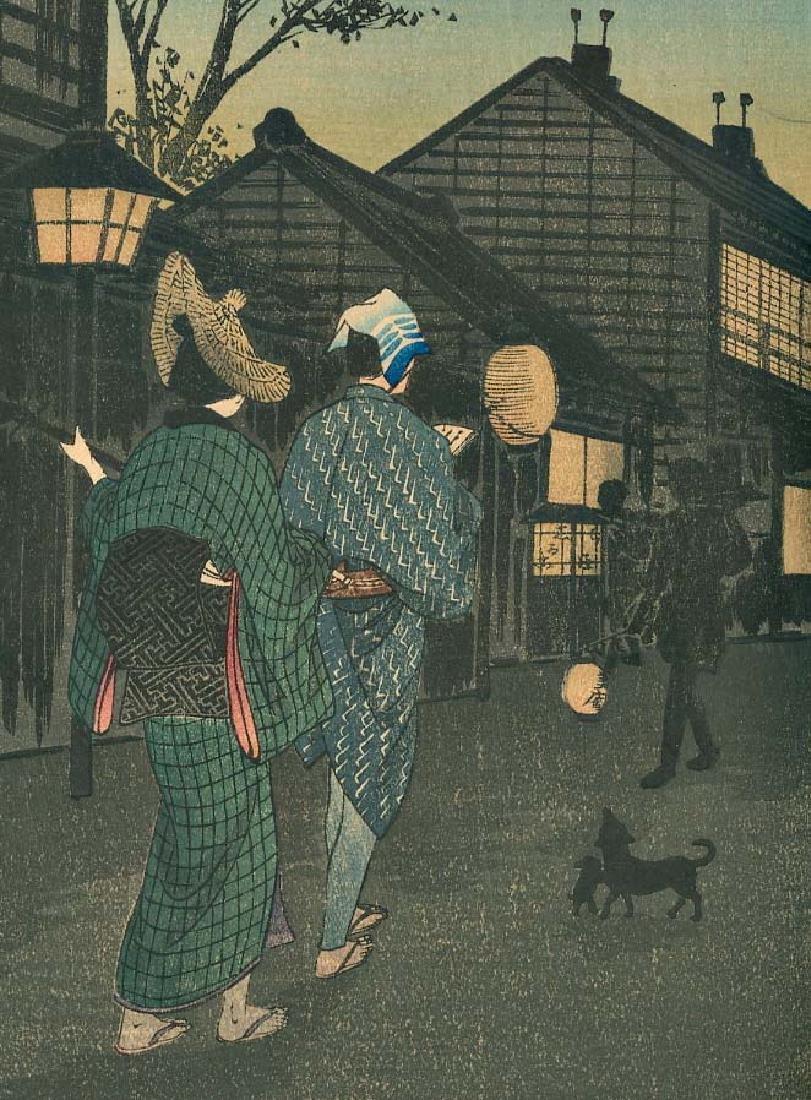 Takahashi Shotei Evening Japanese Woodblock Print - 2