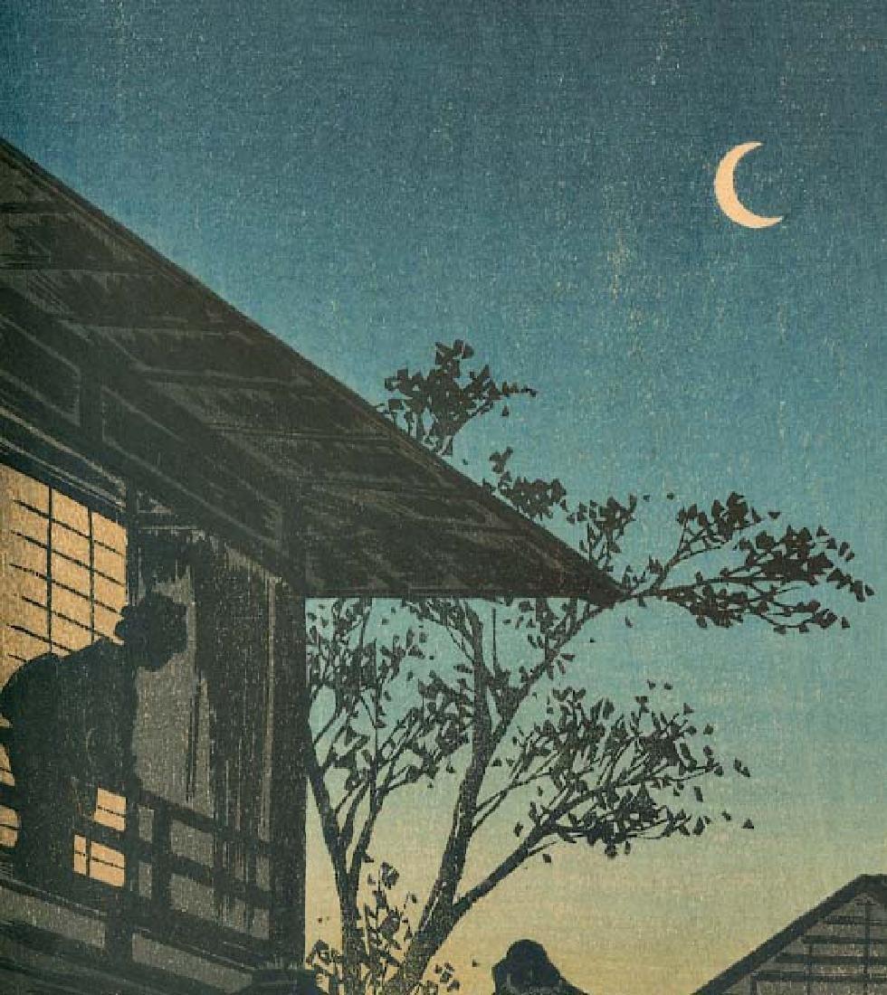 Takahashi Shotei Evening Japanese Woodblock Print - 3
