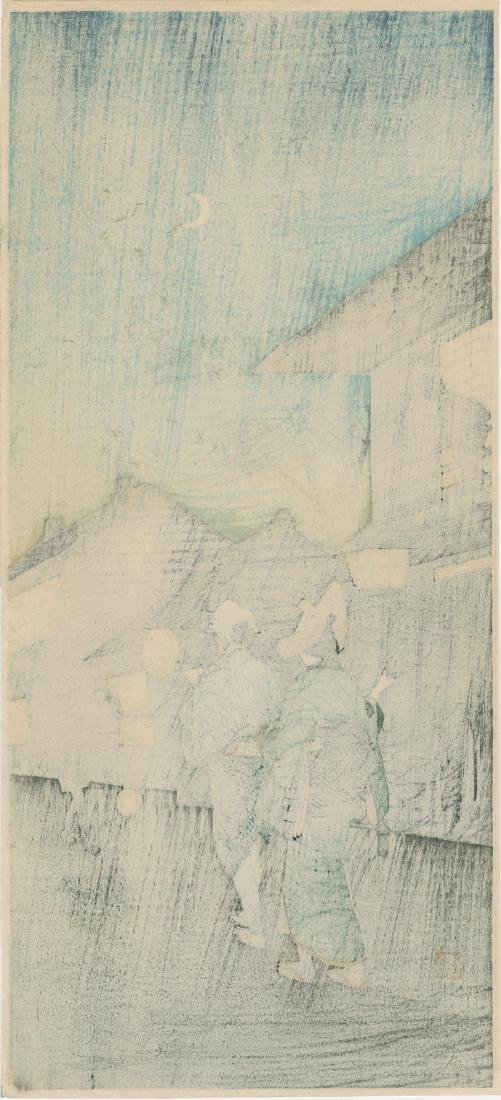 Takahashi Shotei Evening Japanese Woodblock Print - 4